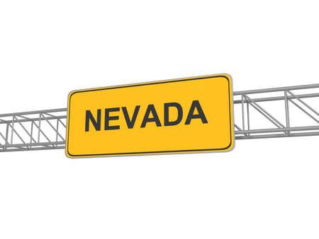 nevada: Nevada yellow sign board, 3d illustration