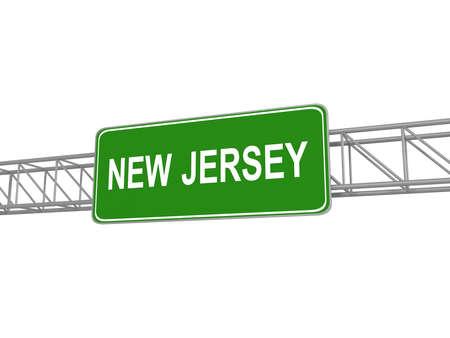 greeen: New Jersey greeen sign board. 3d illustration