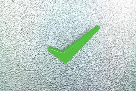 favourable: Green 3D ticks Stock Photo