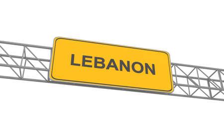 adboard: Lebanon road sign, 3d illustration Stock Photo