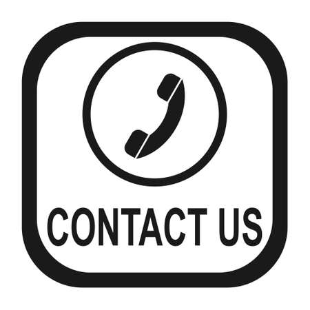 contact us: Contact us icon Illustration