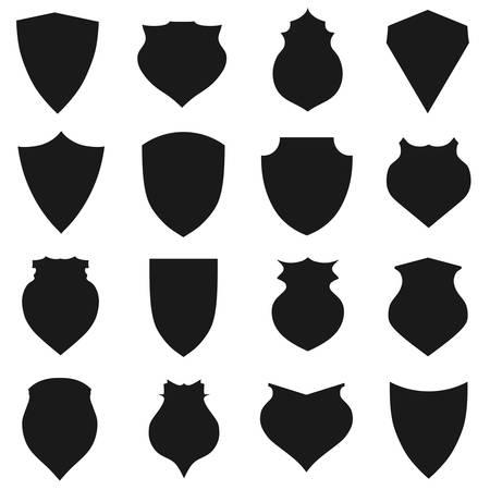 honour guard: Shield icons set