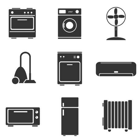 appliance: Home appliance set icons Illustration