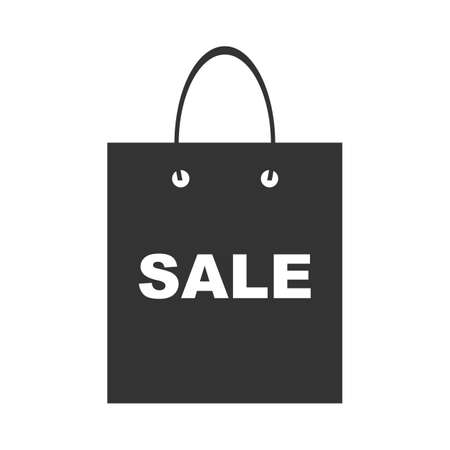 Shopping bag with the sale, discount symbol, Icon