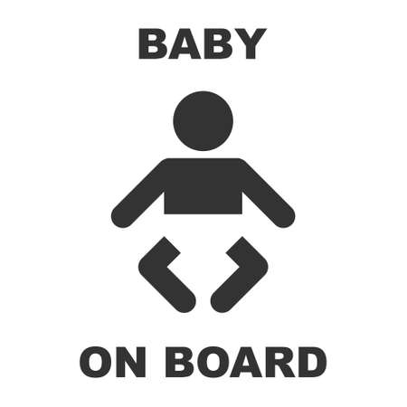 forewarning: Baby On Board Sign vector