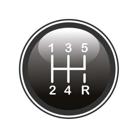 shifter: Gear shifter icon Illustration