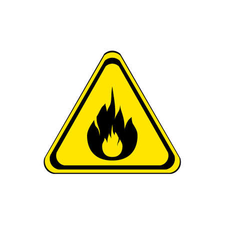 flammable: label flammable sign Illustration