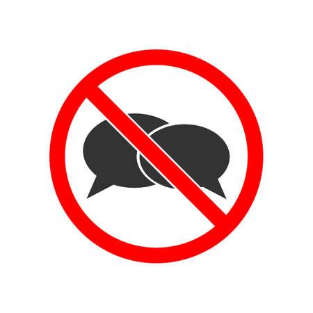 No speaking sign Illustration