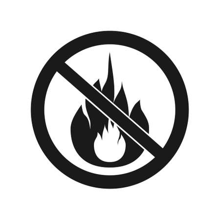 forewarning: No Fire Vector Sign