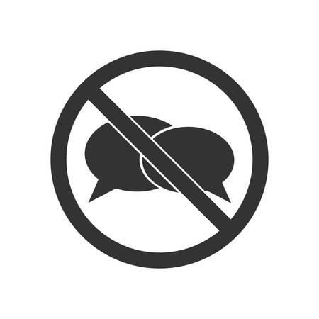 No speaking sign Illusztráció