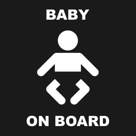 Baby On Board Sign Illusztráció