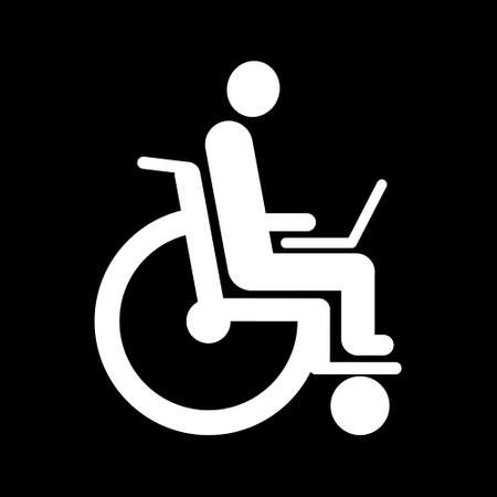Disabled working in Internet Icon Stock fotó - 63424686
