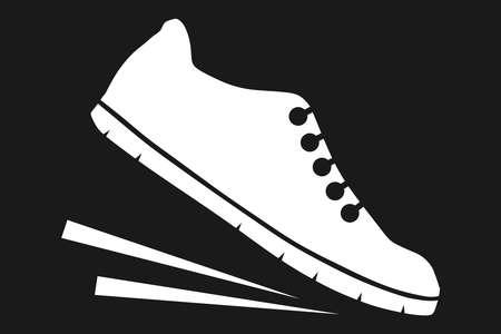 Running shoes icon Illustration
