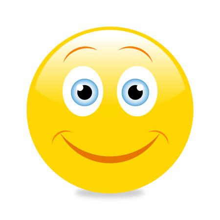 Emoticon with big smile Stock fotó - 63424696