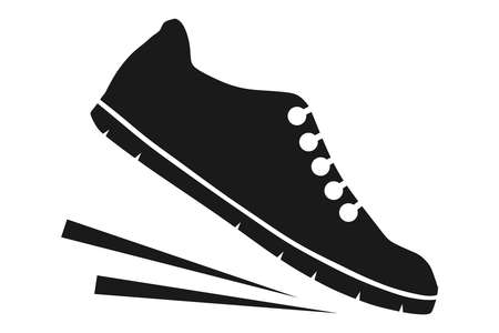 Running shoes icon 矢量图像