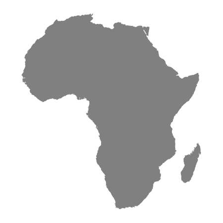 map of Africa Illusztráció