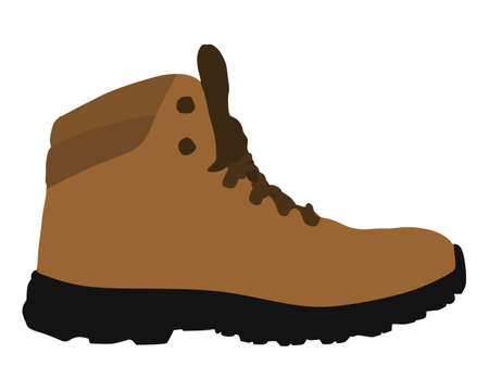 Yellow winter boot