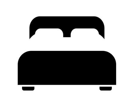 Double Bed icon vector