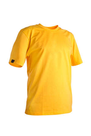 yellow dress: Yellow t-shirt isolated on white background