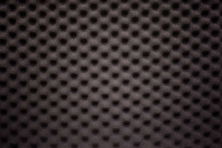 acoustical: Black foam with wave texture