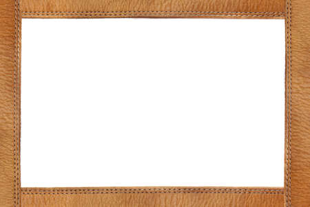 tooled: Leather frame with quilting