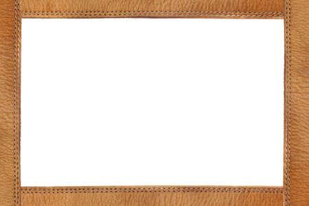 tooled leather: Telaio in pelle con trapuntatura Archivio Fotografico