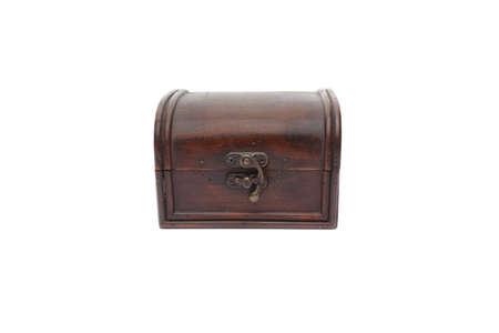 secrete: Secret wooden box isolated on white background