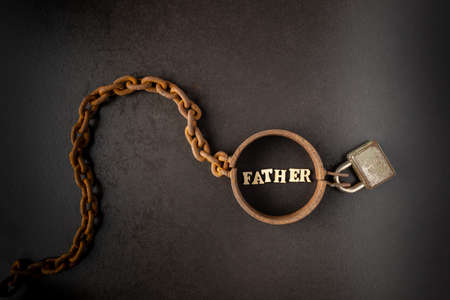 Addiction or slavery on the father Stockfoto