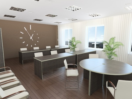 Meeting room. It's 3D image. Stock Photo - 8678814