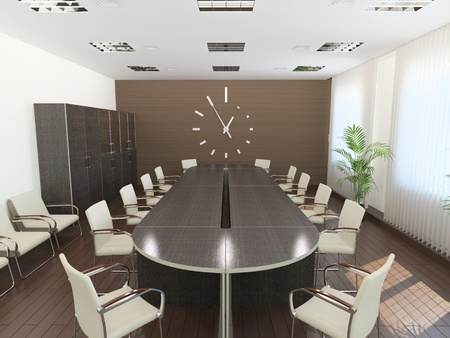 Meeting room. It's 3D image. Stock Photo - 8736615