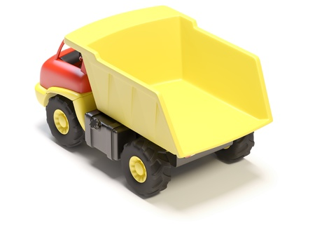 toy truck: Toy truck on white background.  Its 3D image Stock Photo