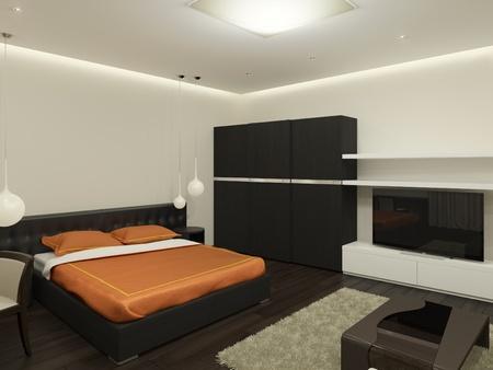 Guest room  It s 3D image  photo