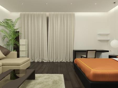 guest room: Camera. Si tratta di immagini 3D.