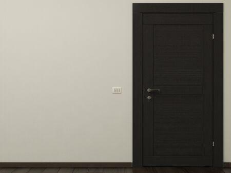 Porte et le mur vide Il Banque d'images - 15311842