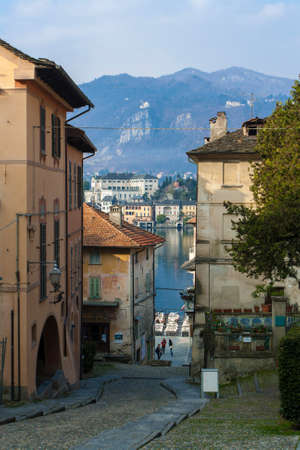 View of the town of Orta San Giulio Banco de Imagens