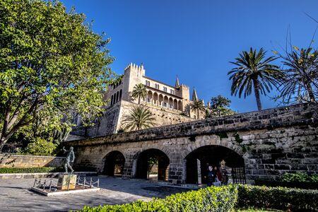 Buildings in Palma de Mallorca, Spain Imagens