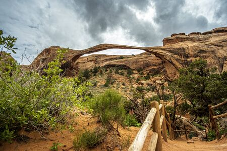 Landscape Arch in beautiful Arches National Park, Utah, USA