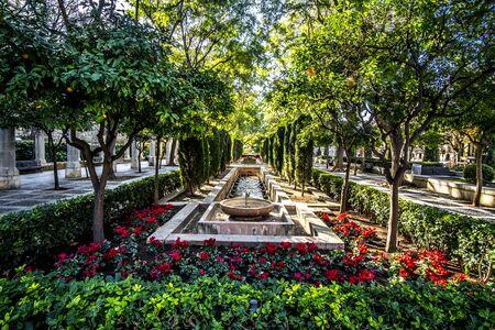 Bautiful park in Palma de Mallorca, Spain