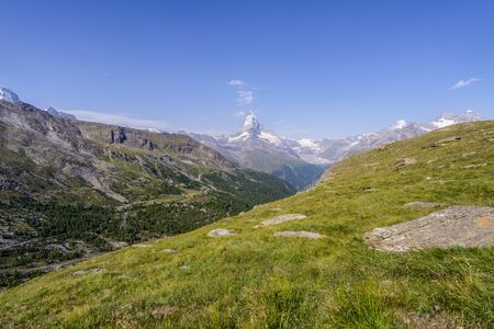 Nice view of Matterhorn in Swiss Alps, Switzerland