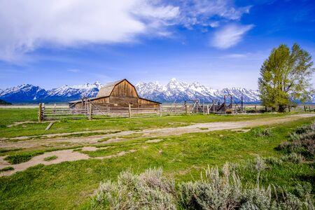 Barn on Mormon Row in Grand Teton, Wyoming, USA