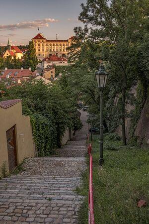 A little town at Prague Castle, where time stood still - beautiful New World (Novy Svet), Hradcany district. Prague, Czech Republic Stock Photo