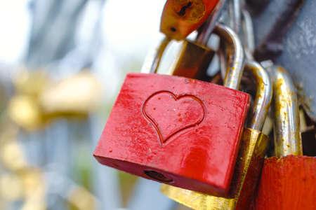 사랑의 잠금 장치 스톡 콘텐츠