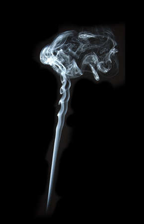 the abstract white smoke on black background