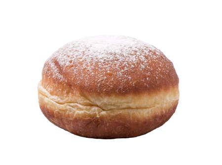 Tasty doughnut, delicious donut on white background Stock Photo