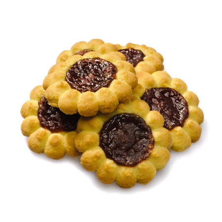 Cookie. Studio photo of group of sweet cookies with jam.