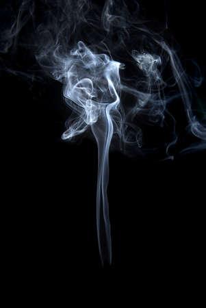 baclground: Studio shot of smoke on the black baclground