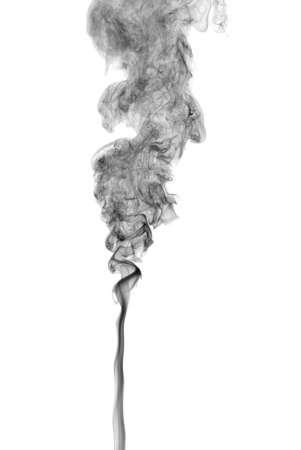 photographic effects: Studio shot of black smoke on the white background