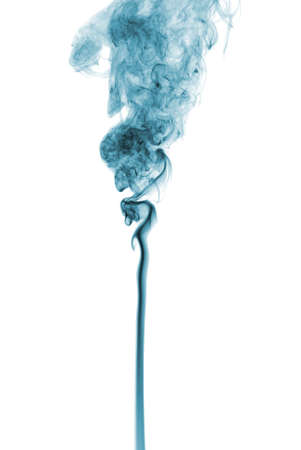 photographic effects: Studio shot of smoke on the white background