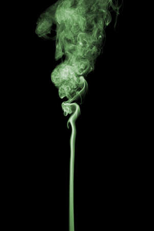 photographic effects: Studio shot of  color smoke on the black baclground