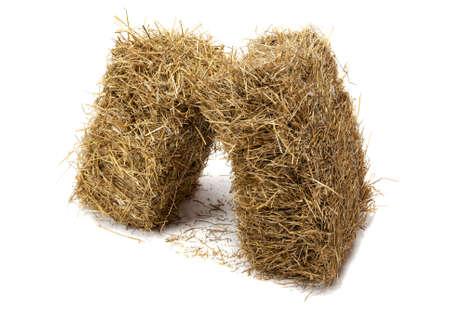 fardos: Tiro del estudio de heno, aislado en blanco